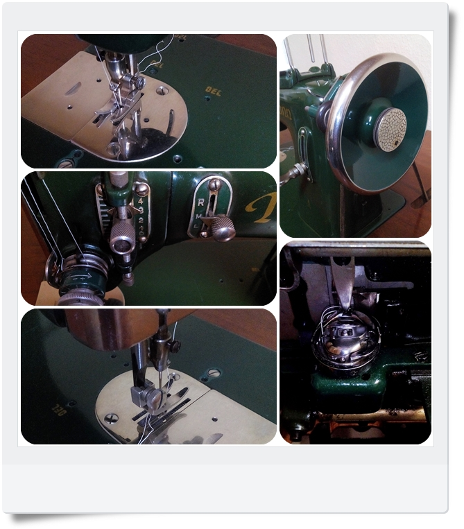 Details Nähmaschine Naumann Kl. 65 - Mondspinne