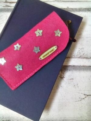 """Brillenetui """"Stars"""" (pink) von Mondspinne"""