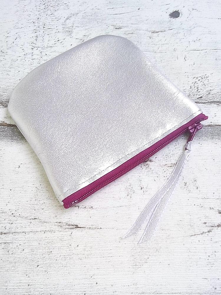 """Tasche """"Silber"""" (silber-purpur) von Mondspinne"""