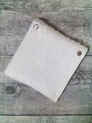 "Börse ""Alm I"" (weiß) aus Kuhfell - Mondspinne"