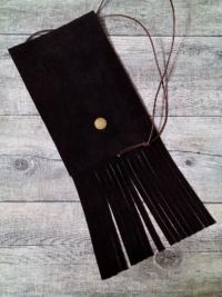 Brustbeutel Mexiko dunkelbraun Leder - Mondspinne