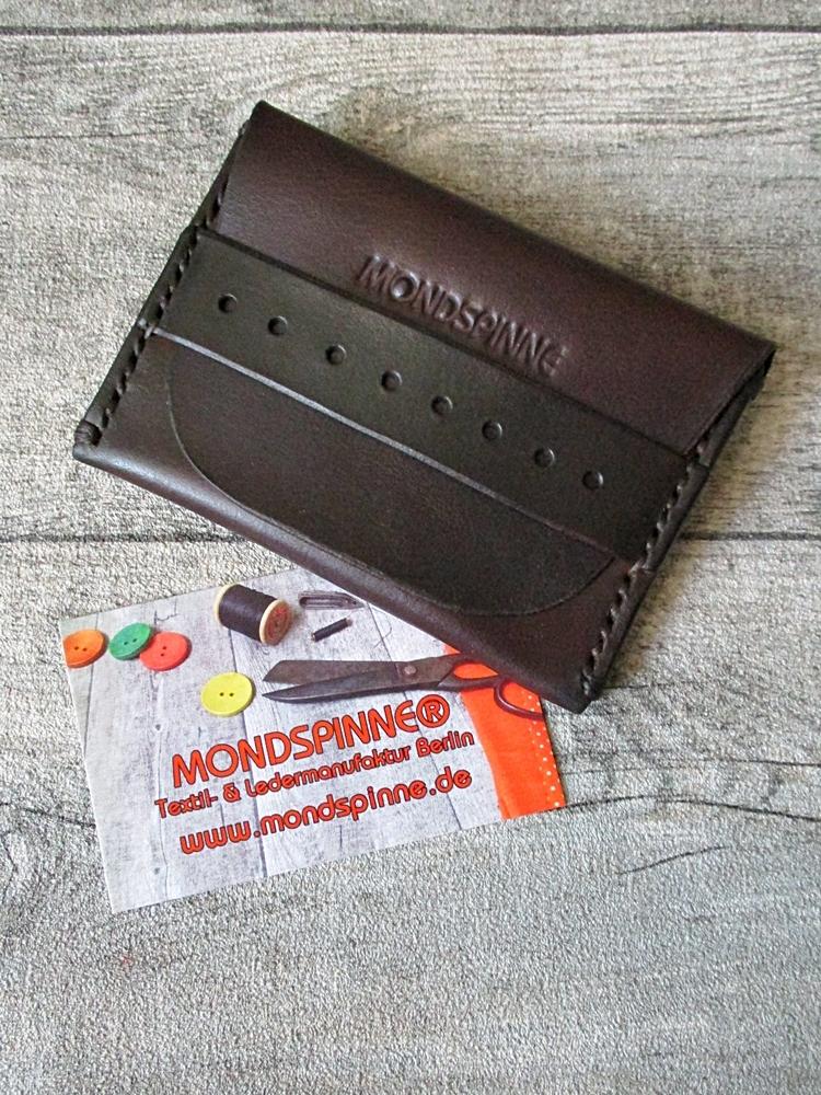 Kreditkartenetui Hajo dunkelbraun Rindsleder - MONDSPINNE