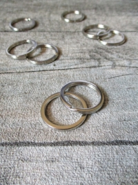 Schlüsselring flach Eisen 25mm silber vernickelt Nr. 3029 - MONDSPINNE