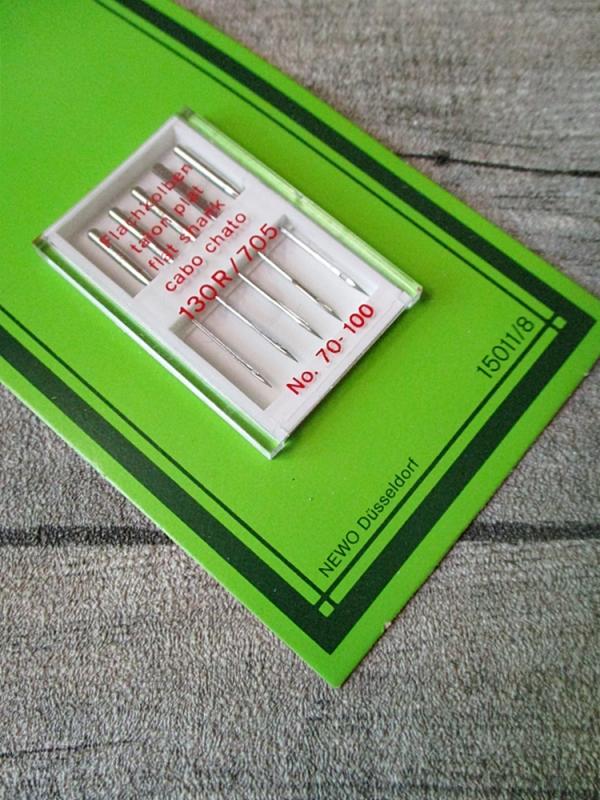 Nähmaschinennadeln Flachkolben 130R 705 70-100 5 Stk NEWO - MONDSPINNE