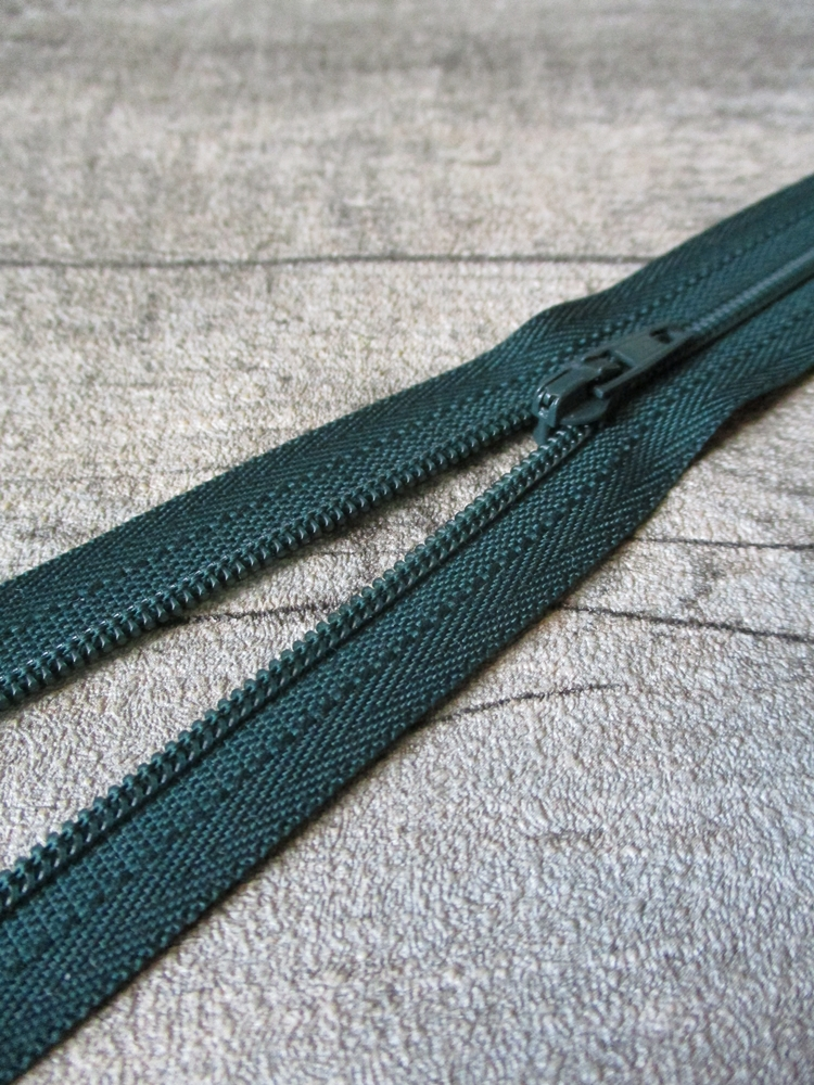 Reißverschluss dunkelgrün 18 cm lang 22 mm breit YKK - MONDSPINNE