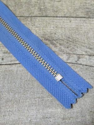 Reißverschluss himmelblau altsilber 20 cm lang 2,7 cm breit YKK - MONDSPINNE