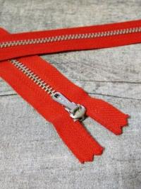 Reißverschluss rot altsilber 16 cm lang 2,7 cm breit YKK - MONDSPINNE