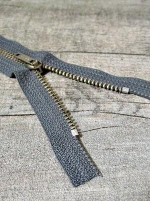 Reißveschluss dunkelgrau altsilber 14 cm lang 2,7 cm breit OPTI - MONDSPINNE