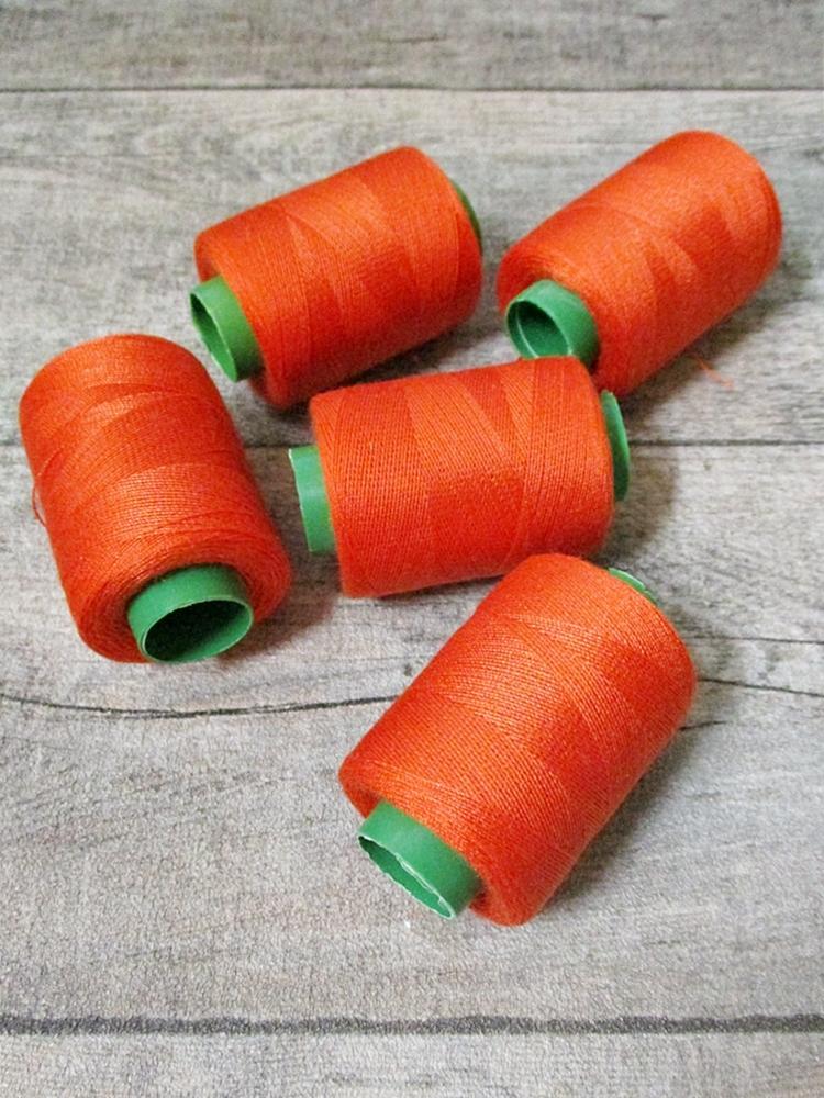 Garn Polyester orangerot 0,1 mm 400 m - MONDSPINNE