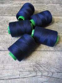 Garn Polyester marineblau 0,1 mm 400 m - MONDSPINNE