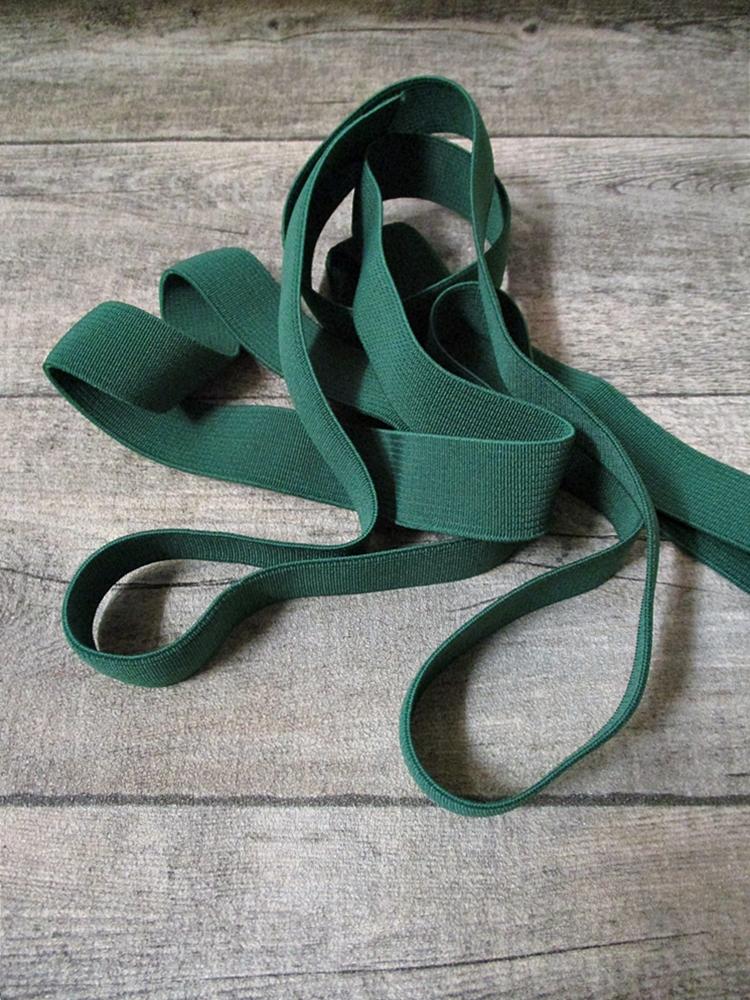 Gummiband Elastikband 2 cm Polyester Elastodien dunkelgrün - MONDSPINNE