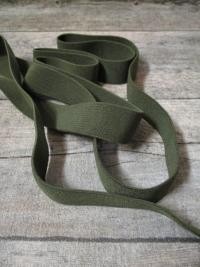 Gummiband Elastikband 2 cm Polyester Elastodien olivegrün - MONDSPINNE