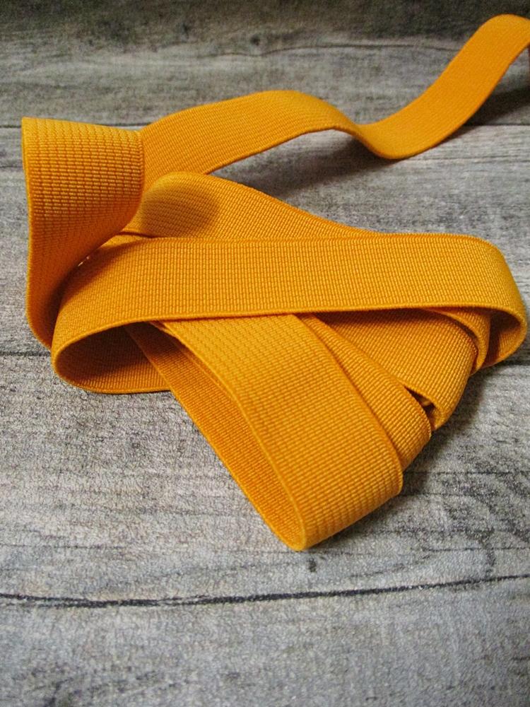 Gummiband Elastikband 2 cm Polyester Elastodien orangegelb - MONDSPINNE