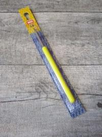 Häkelnadel INOX Prym Stärke 3,5 silber-gelb Metall Kunststoff - MONDSPINNE