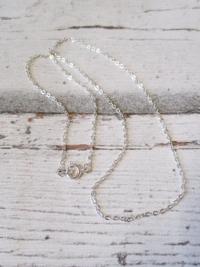 Halskette silberfarben Metall Karabinerverschluss 45 cm - MONDSPINNE