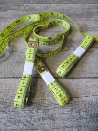 Maßband Metermaß Bandmaß Zentimeter Inch gelb 150 cm Kunststoff - MONDSPINNE