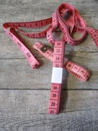 Maßband Metermaß Bandmaß Zentimeter Inch rosa 150 cm Kunststoff - MONDSPINNE