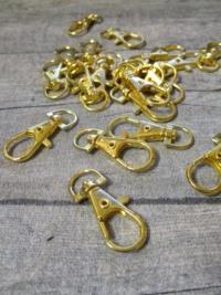 Schlüsselkarabiner Karabiner gold Metall 37x15x4 mm - MONDSPINNE