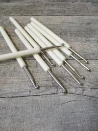 Häkelnadel Prym Stärke 4 silber weiß 136 mm - MONDSPINNE