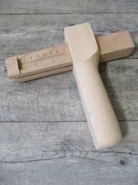 Riemenschneider Griffholz 180 lang Griff 46x37mm Messlatte 20 cm 5 Klingen 39,5x19 mm - MONDSPINNE