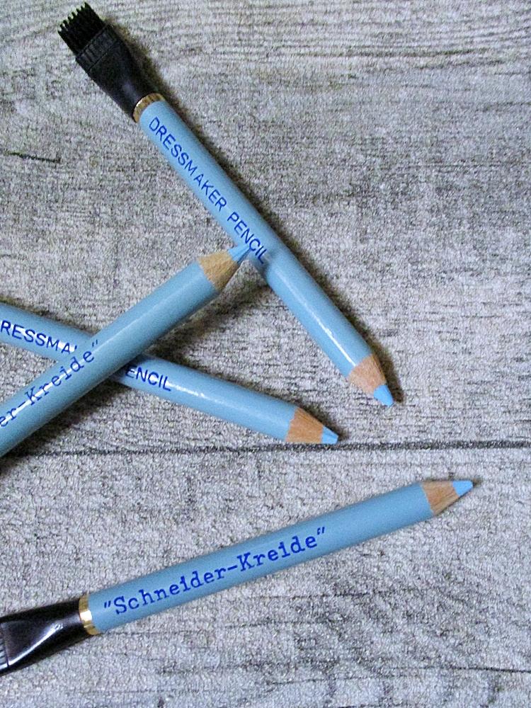 Schneiderkreide Kreidestift mit Radierpinsel hellblau - MONDSPINNE