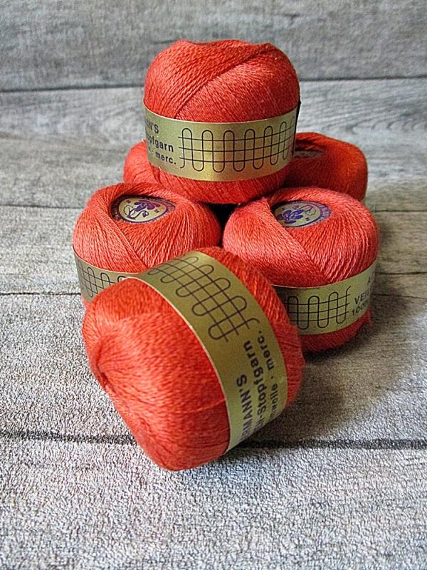 Veilchen-Stopfgarn Ackermann Baumwolle 20m 10g orange - MONDSPINNE