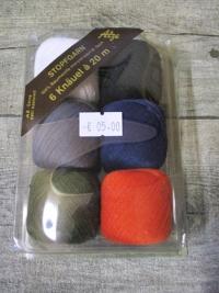 Alze Stopfgarn Set bunt weiß schwarz grau dunkelblau grün rot Baumwolle mercerisiert - MONDSPINNE