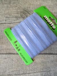 Biaisband Biasband Schrägband 12 mm 5 m nahtlos naadloos farbecht kleurecht babyblau - MONDSPINNE