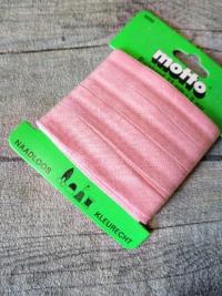 Biaisband Biasband Schrägband 12 mm 5 m nahtlos naadloos farbecht kleurecht rosa - MONDSPINNE