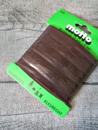 Biaisband Biasband Schrägband 12 mm 5 m nahtlos naadloos farbecht kleurecht schokobraun - MONDSPINNE