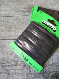 Biaisband Biasband Schrägband 12 mm 5 m nahtlos naadloos farbecht kleurecht schwarz - MONDSPINNE