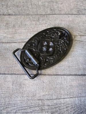 Gürtelschnalle Metallschließe Buckle messing Metall oval keltischer Knoten - MONDSPINNE