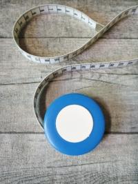 Maßband Bandmaß Metermaß Rollmaß Rollmaßband rund hellblau-weiß 150 cm springfix hoechstmass - MONDSPINNE