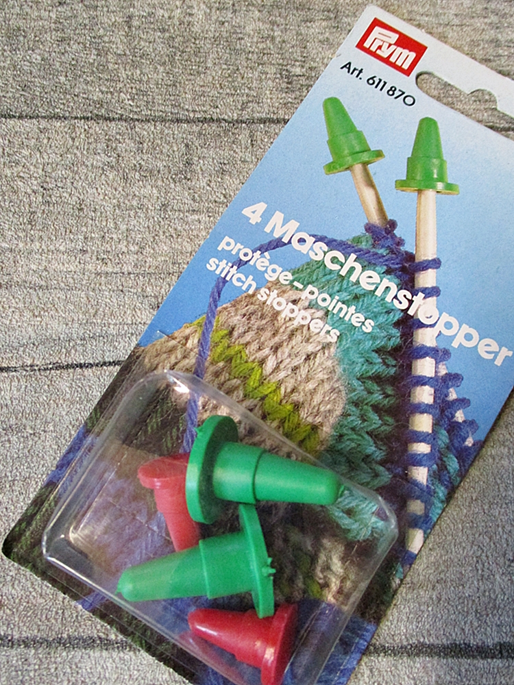 Maschenstopper Prym Set rot grün Kunststoff - MONDSPINNE
