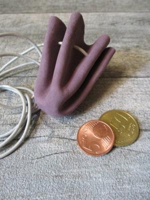Mini-Lederbeutel altrosa kit Leder - MONDSPINNE