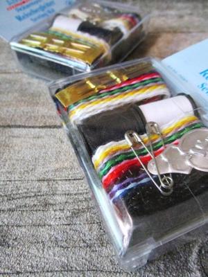 Reisenähset Amann Nadeln Sicherheitsnadeln Nähgarnzöpfe Garn schwarz weiß bunt Einfädler - MONDSPINNE