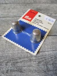 Fingerhüte 2 Stück Duo Set Prym silber Metall - MONDSPINNE