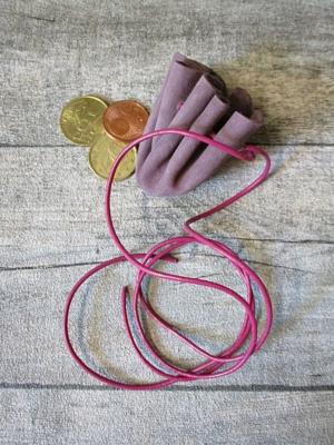 Mini-Lederbeutel altrosa purpur Leder - MONDSPINNE