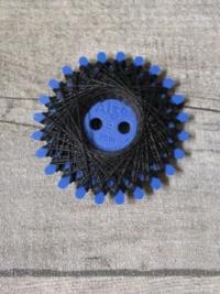 Baumwollzwirn Zwirn gewachst 20 m reißfest farbecht Nm3 3fach NEWO schwarz - MONDSPINNE