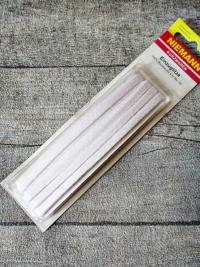 Einzuglitze Baumwolle weiß 8 m ca. 5 mm - MONDSPINNE