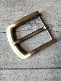 Gürtelschnalle Metallschließe messing-dunkelgrau Metall 40 mm - MONDSPINNE