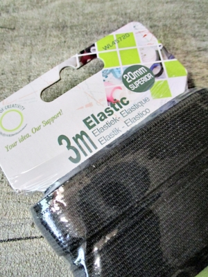 Gummiband Gummilitze schwarz 20 mm 3 m flach - MONDSPINNE