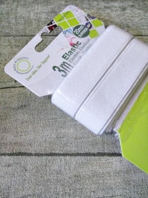 Gummiband weiß 20 mm 3 m flach - MONDSPINNE