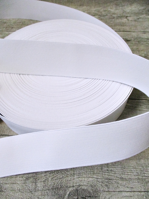 Gummiband weiß 40 mm x 1 m flach - MONDSPINNE