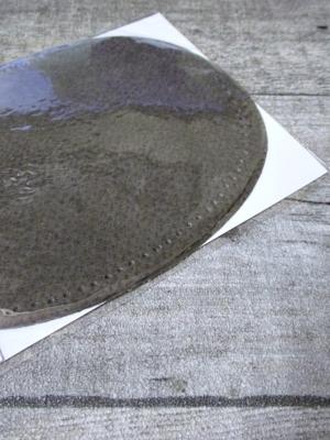 Lederflicken Lederflecken Leder Flicken oval vorgelocht vorgestanzt zum Aufnähen braun - MONDSPINNE