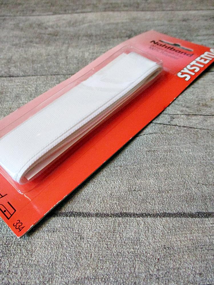 Nahtband weiß Polyester 20 mm 3 m - MONDSPINNE