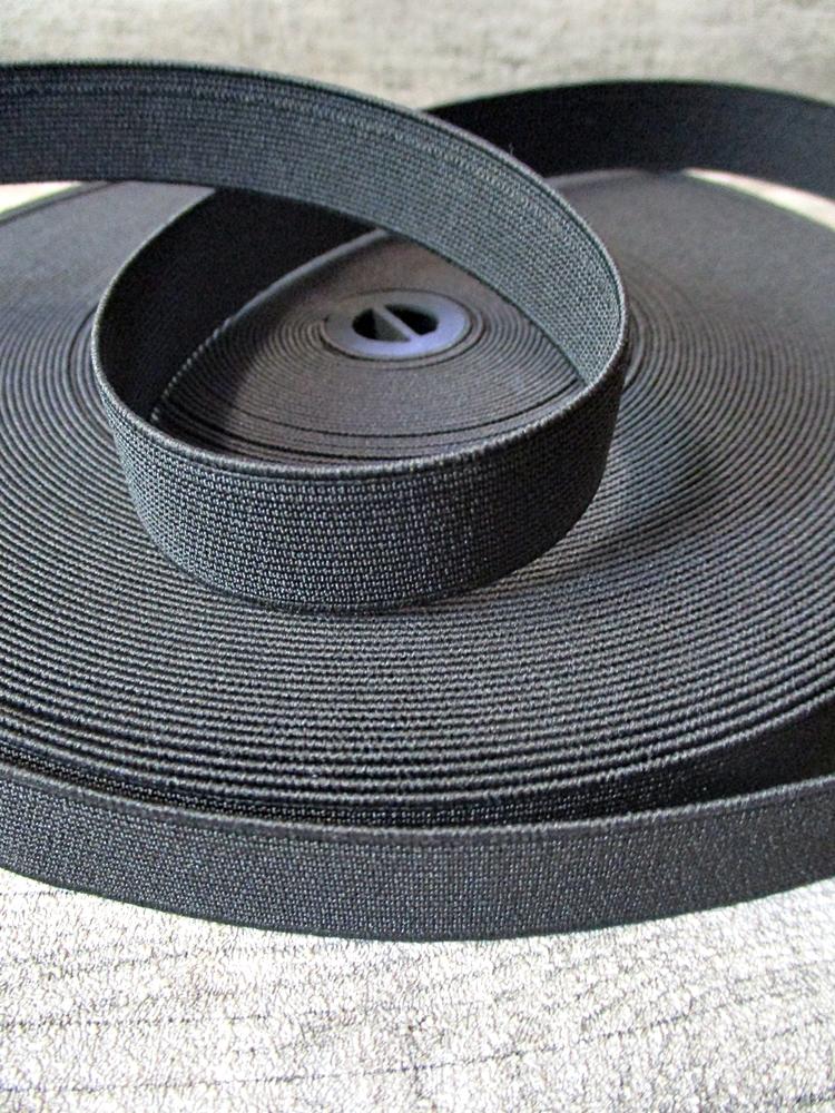 Gummiband schwarz 20 mm - MONDSPINNE