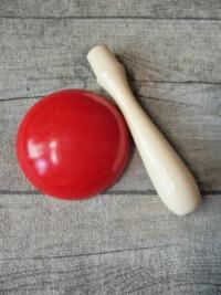 Stopfpilz weiß rot Holz Kunststoff 10x6cm - MONDSPINNE