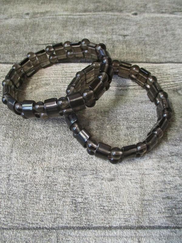 Armband Lamellenobsidian Edelstein elastisch - MONDSPINNE