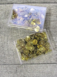 Reißnägel Reißbrettstifte Metall vermessingt Wenco B-Ware - MONDSPINNE